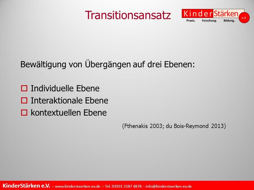 Transitionsansatz (Fthenakis 2003; du Bois-Reymond 2013)