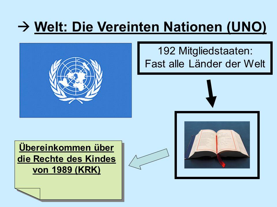 Übereinkommen über die Rechte des Kindes von 1989 (KRK)