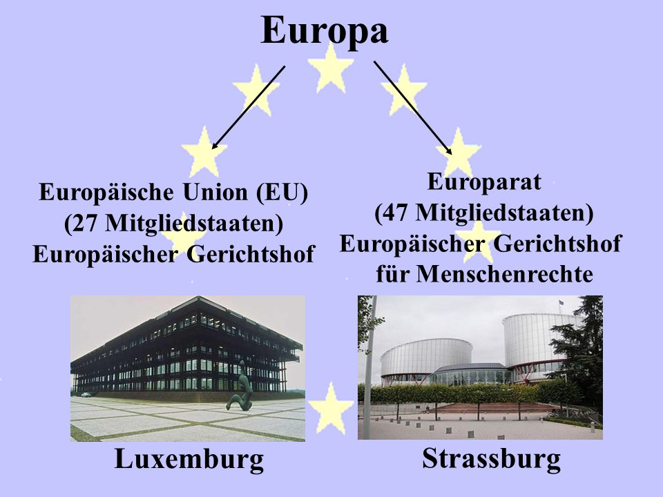 Europa Luxemburg Strassburg Europarat Europäische Union (EU)