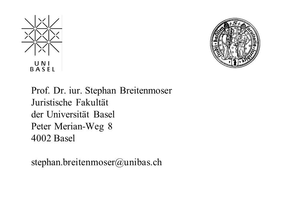 Prof. Dr. iur. Stephan Breitenmoser