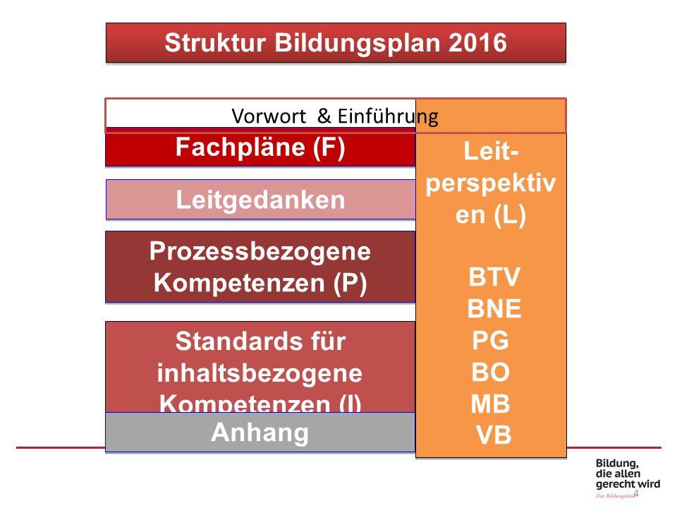 Struktur Bildungsplan 2016