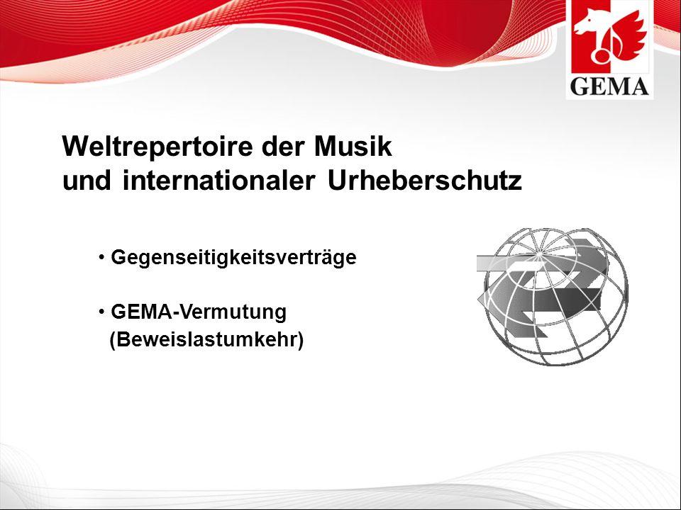 Weltrepertoire der Musik und internationaler Urheberschutz