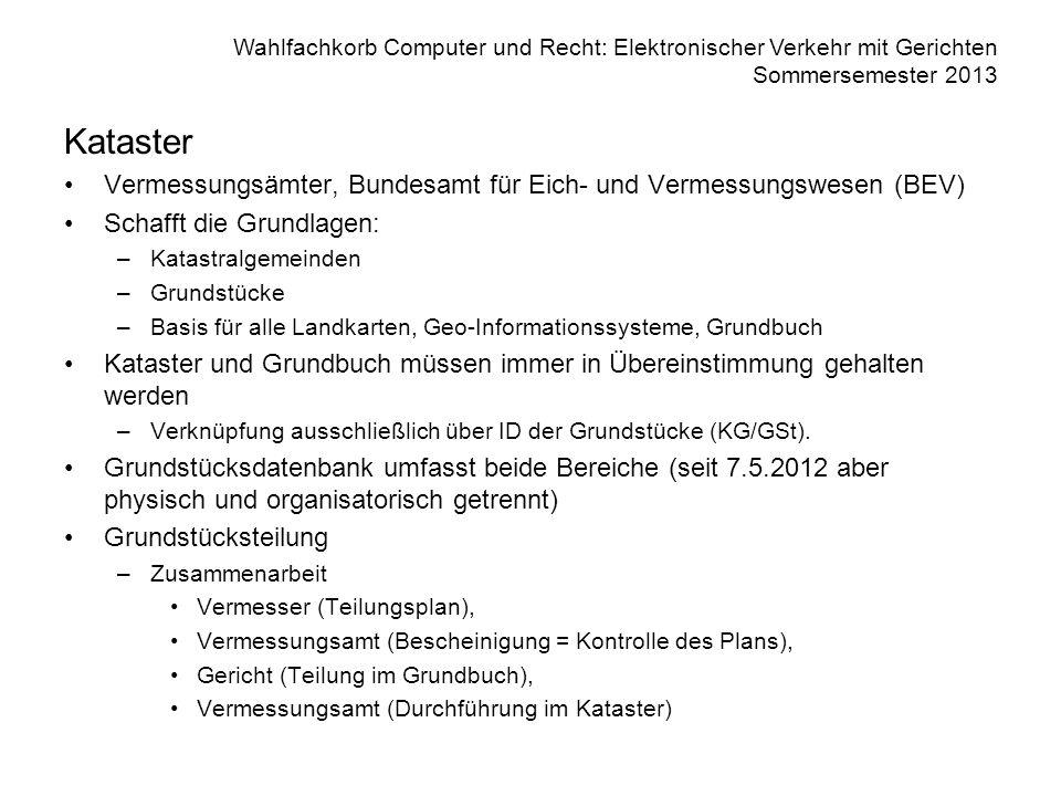 Kataster Vermessungsämter, Bundesamt für Eich- und Vermessungswesen (BEV) Schafft die Grundlagen: Katastralgemeinden.