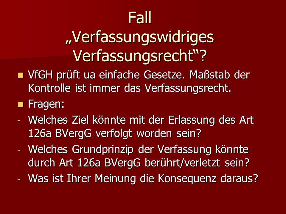 """Fall """"Verfassungswidriges Verfassungsrecht"""