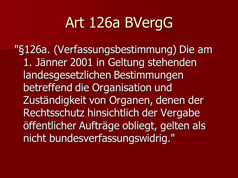 Art 126a BVergG