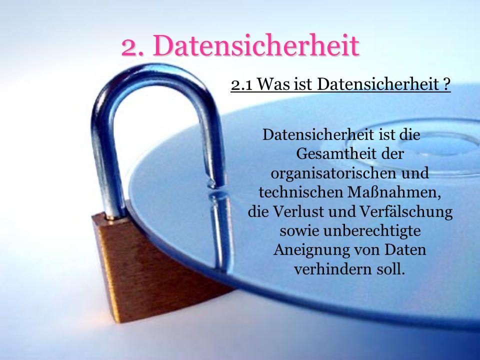 2.1 Was ist Datensicherheit