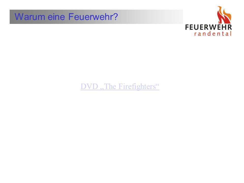 "DVD ""The Firefighters"