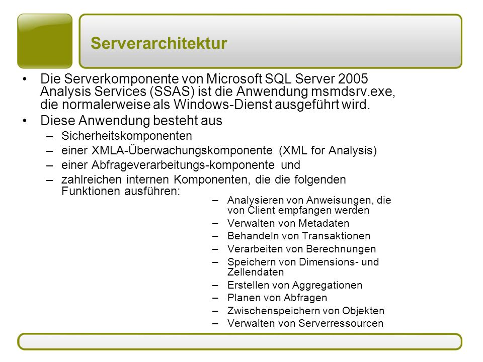Serverarchitektur