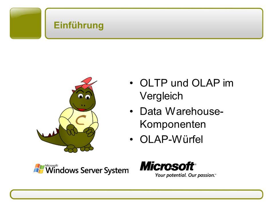 OLTP und OLAP im Vergleich Data Warehouse-Komponenten OLAP-Würfel