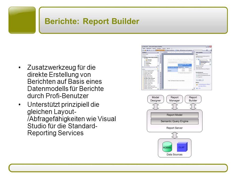 Berichte: Report Builder