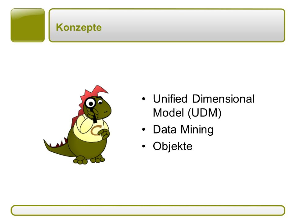 Unified Dimensional Model (UDM) Data Mining Objekte