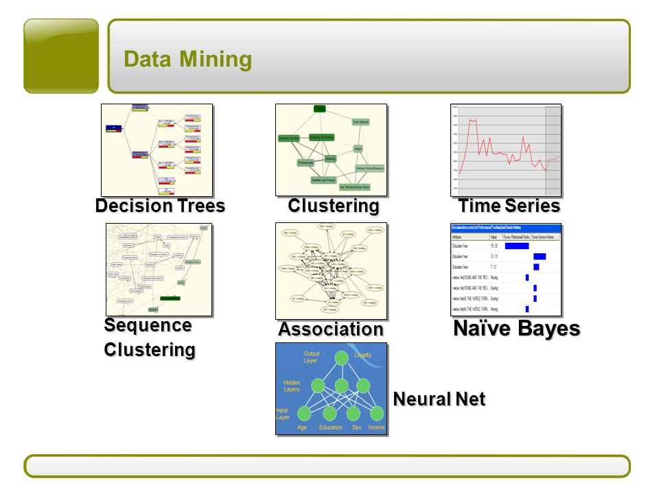 Data Mining Naïve Bayes Decision Trees Clustering Time Series