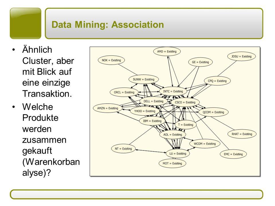Data Mining: Association