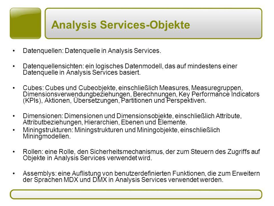Analysis Services-Objekte