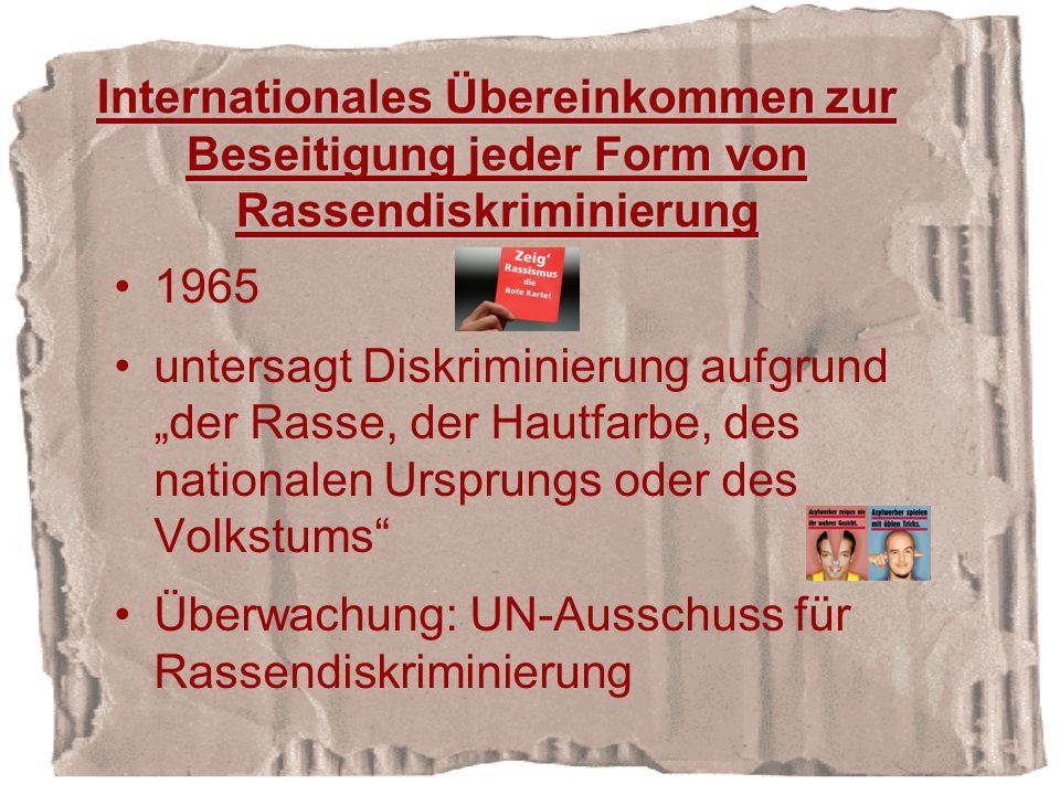 Internationales Übereinkommen zur Beseitigung jeder Form von Rassendiskriminierung