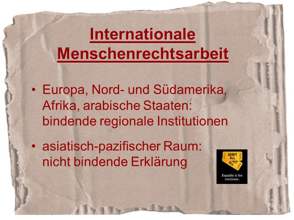 Internationale Menschenrechtsarbeit