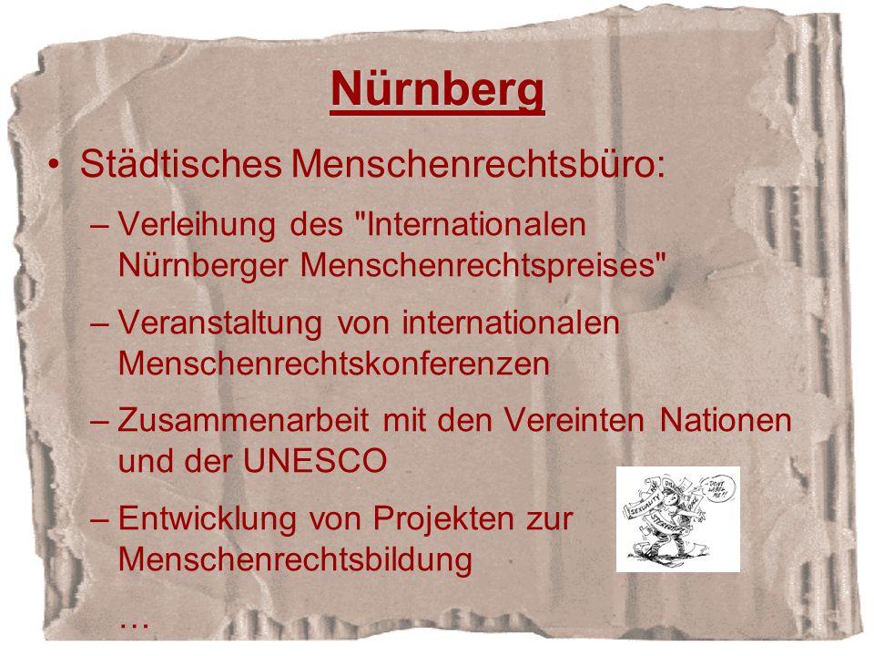 Nürnberg Städtisches Menschenrechtsbüro: