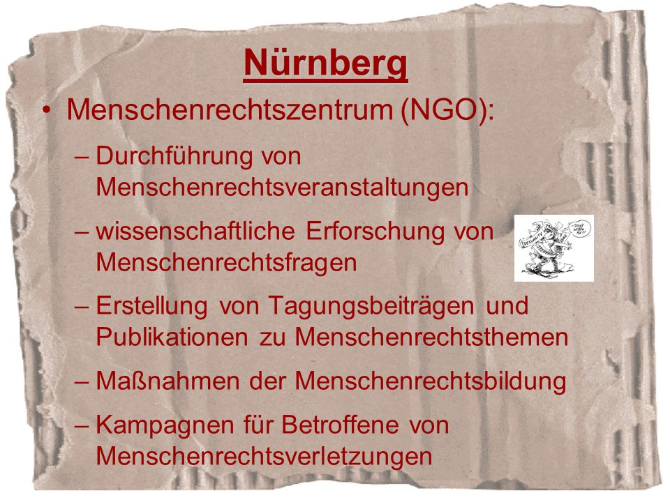 Nürnberg Menschenrechtszentrum (NGO):