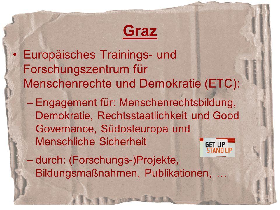 Graz Europäisches Trainings- und Forschungszentrum für Menschenrechte und Demokratie (ETC):