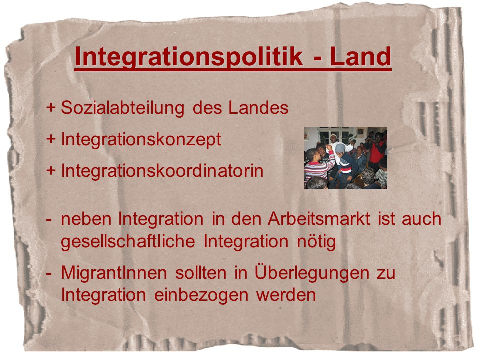 Integrationspolitik - Land