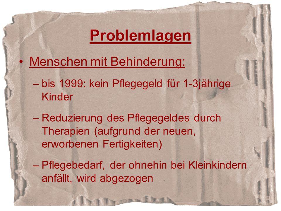 Problemlagen Menschen mit Behinderung: