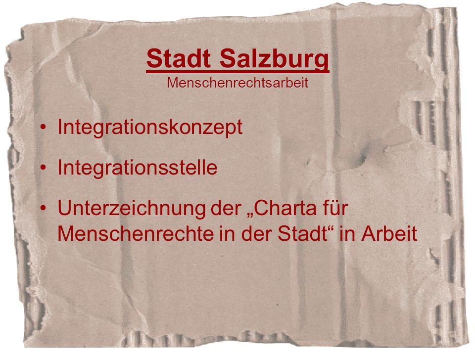 Stadt Salzburg Menschenrechtsarbeit