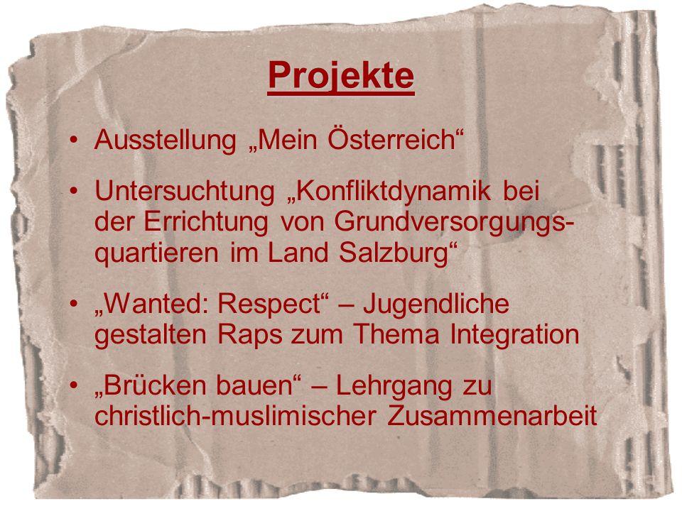 """Projekte Ausstellung """"Mein Österreich"""