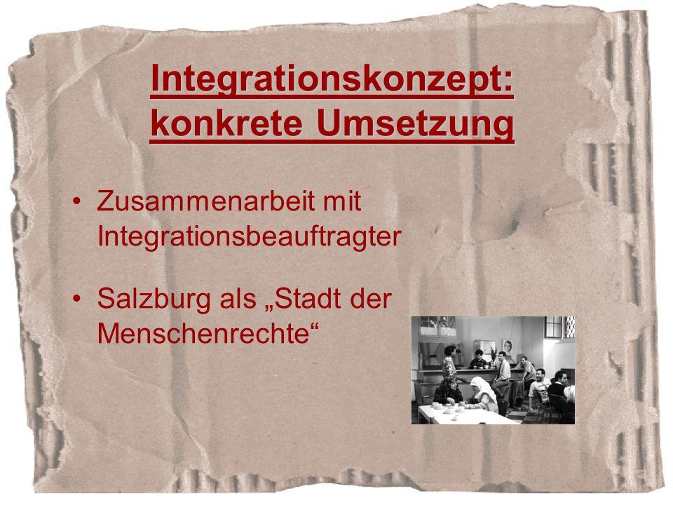 Integrationskonzept: konkrete Umsetzung