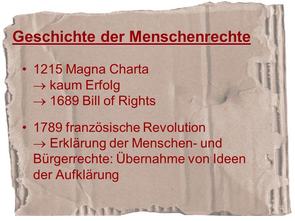 Geschichte der Menschenrechte