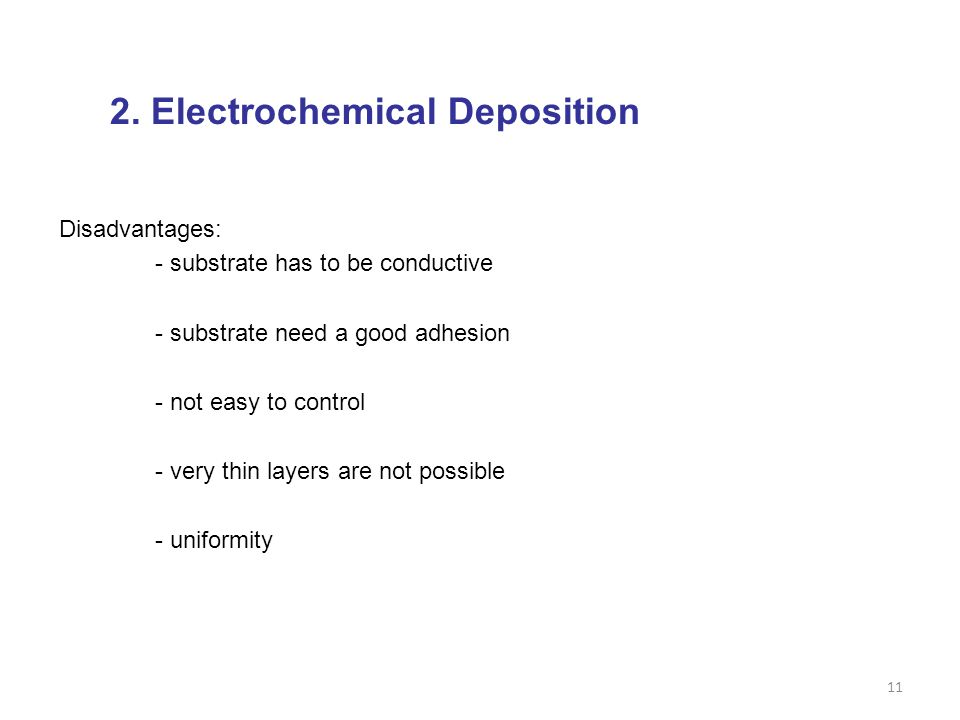 2. Electrochemical Deposition