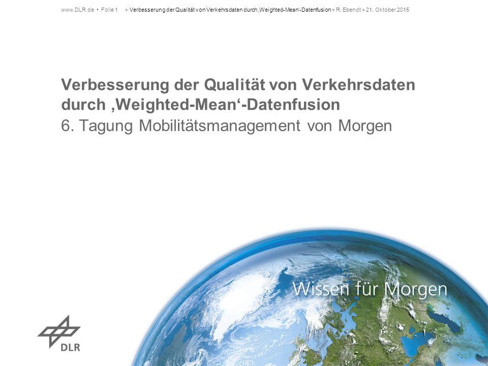6. Tagung Mobilitätsmanagement von Morgen