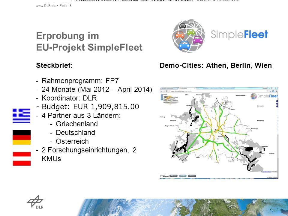 Erprobung im EU-Projekt SimpleFleet