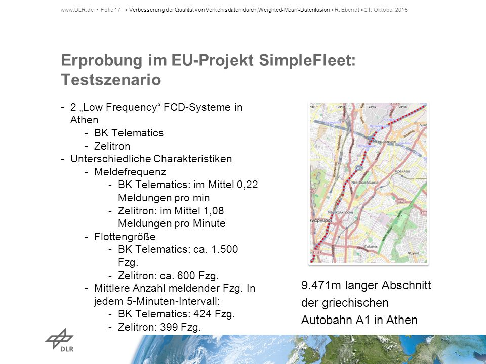 Erprobung im EU-Projekt SimpleFleet: Testszenario