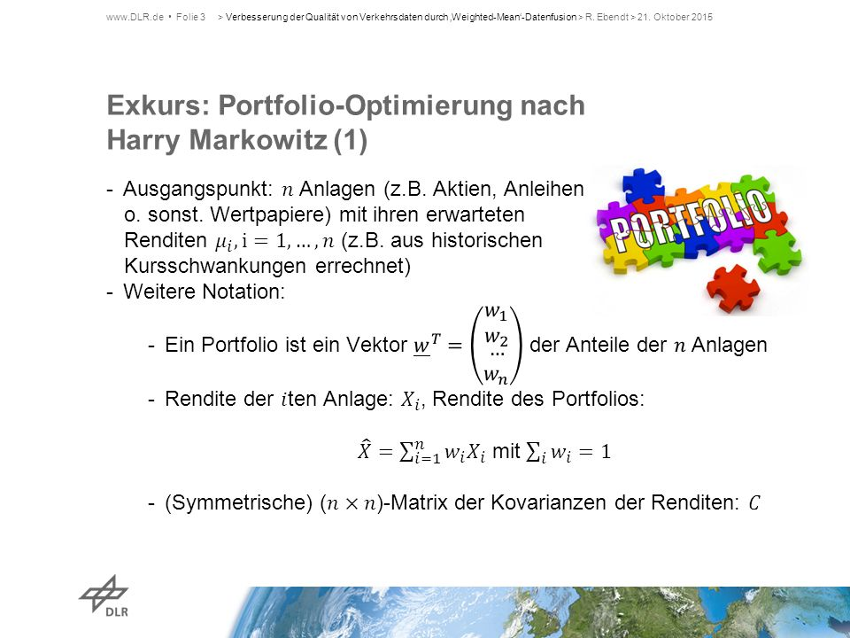 Exkurs: Portfolio-Optimierung nach Harry Markowitz (1)