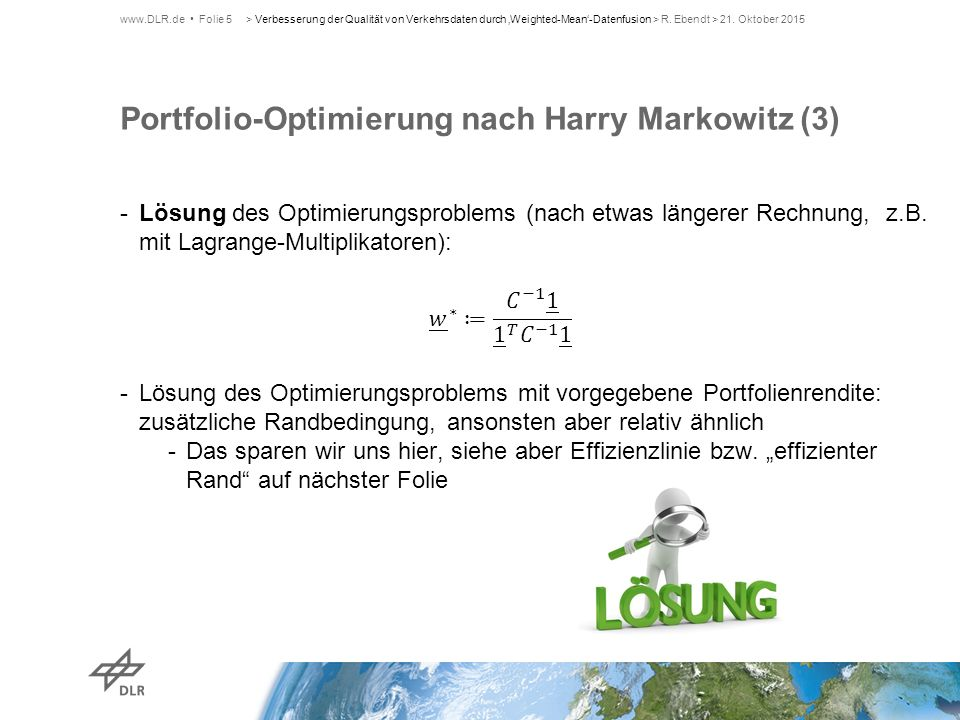 Portfolio-Optimierung nach Harry Markowitz (3)