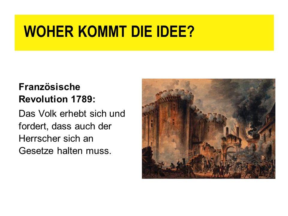 WOHER KOMMT DIE IDEE Französische Revolution 1789: