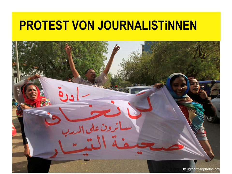 PROTEST VON JOURNALISTiNNEN
