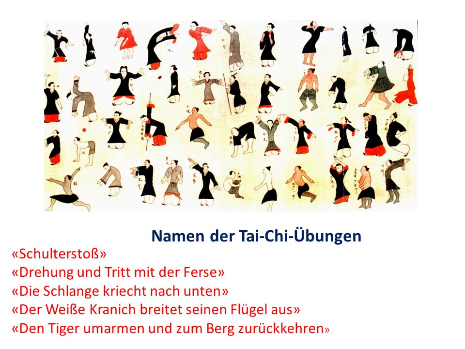 Namen der Tai-Chi-Übungen