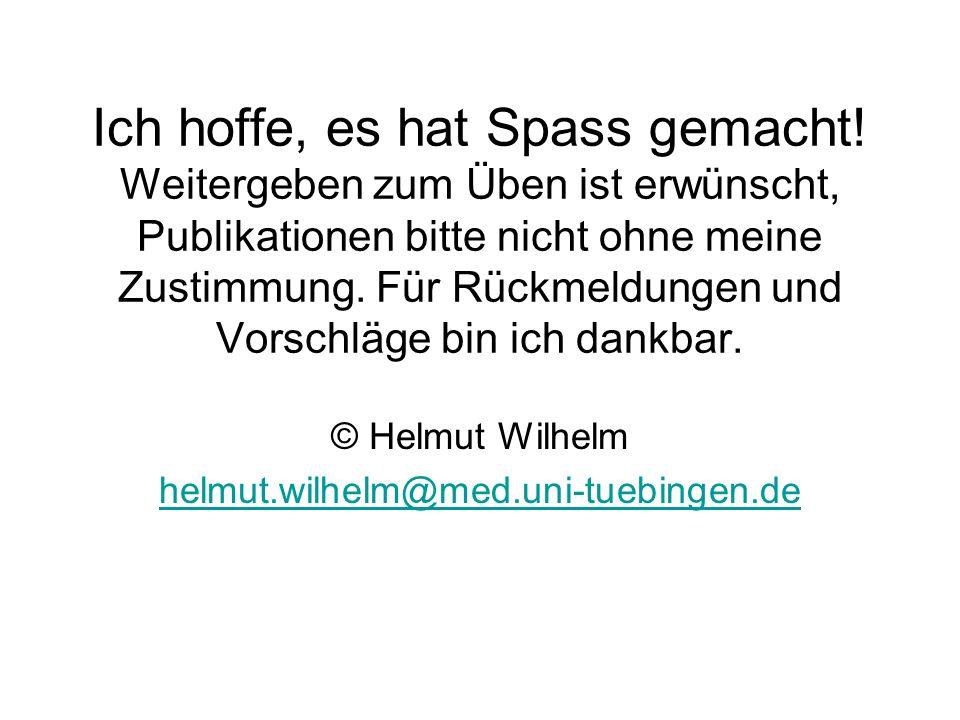© Helmut Wilhelm helmut.wilhelm@med.uni-tuebingen.de