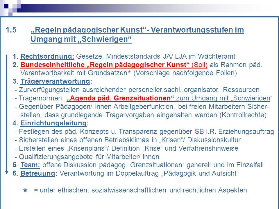 """* 1.5 """"Regeln pädagogischer Kunst - Verantwortungsstufen im"""