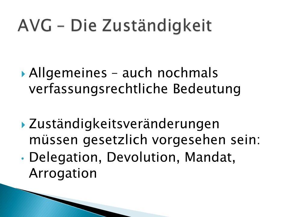 AVG – Die Zuständigkeit