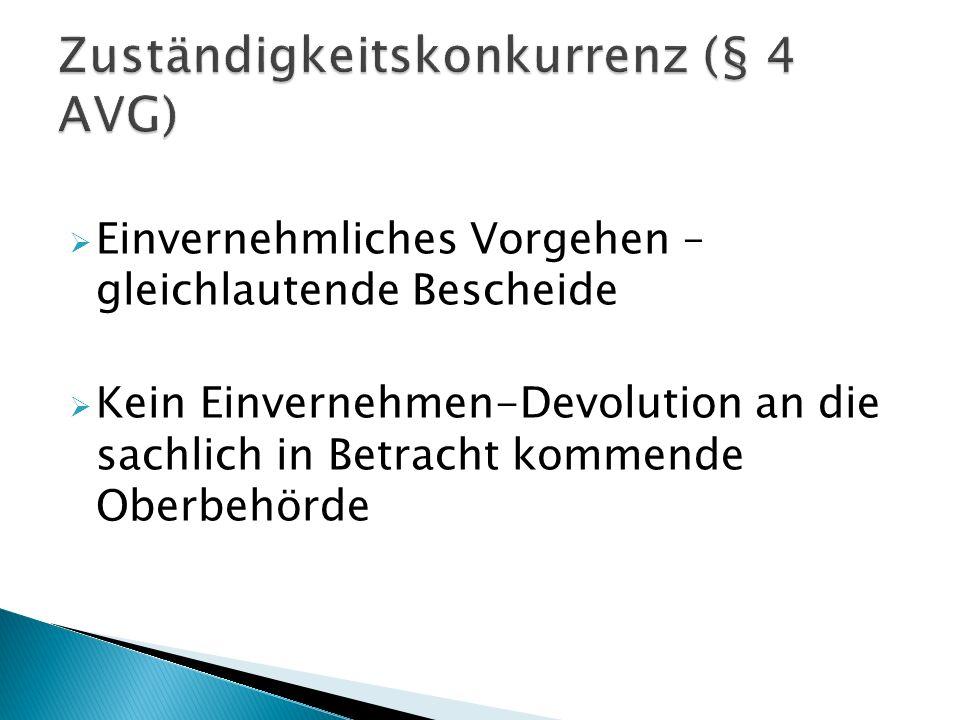 Zuständigkeitskonkurrenz (§ 4 AVG)
