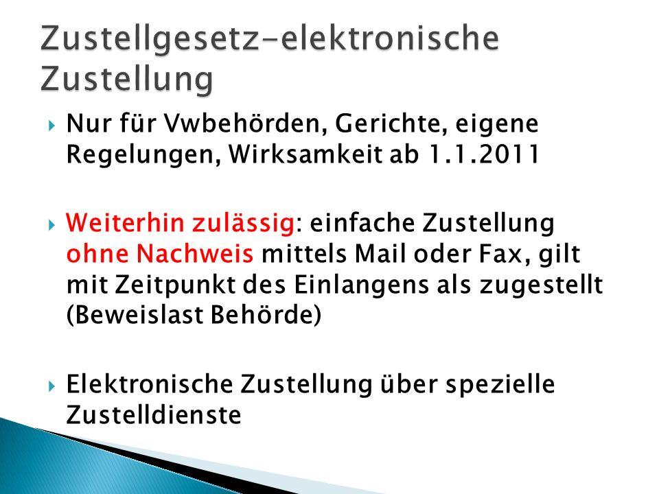 Zustellgesetz-elektronische Zustellung