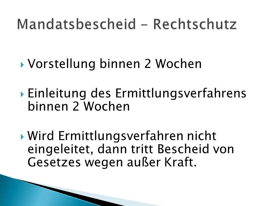 Mandatsbescheid - Rechtschutz