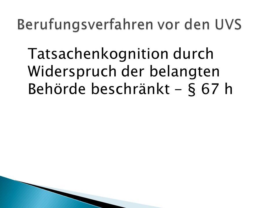 Berufungsverfahren vor den UVS