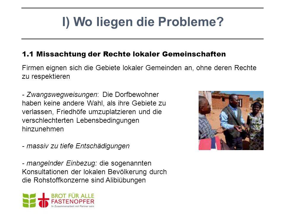 I) Wo liegen die Probleme