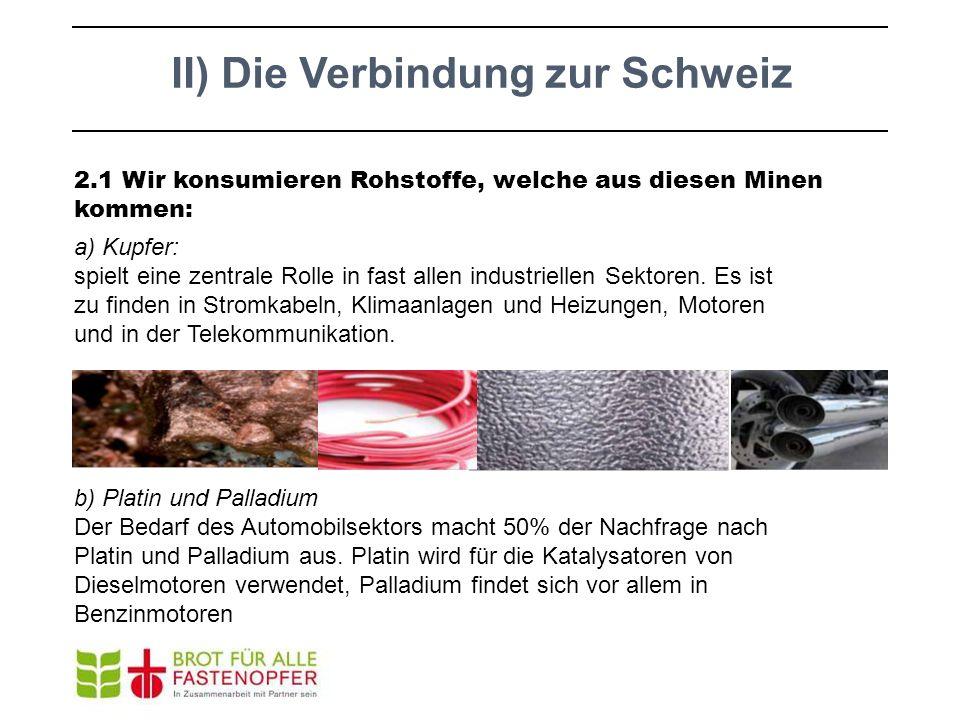 II) Die Verbindung zur Schweiz