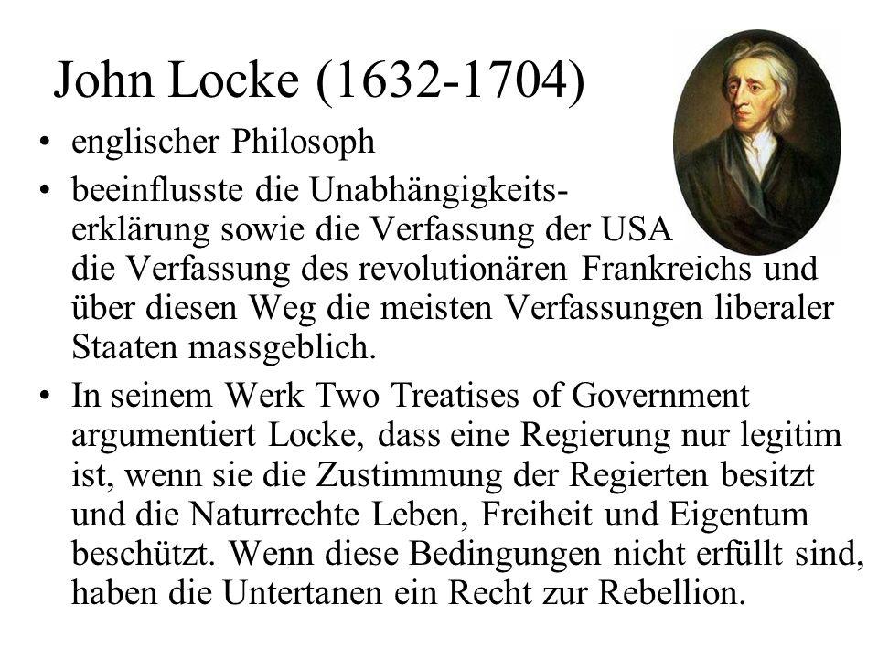 John Locke (1632-1704) englischer Philosoph
