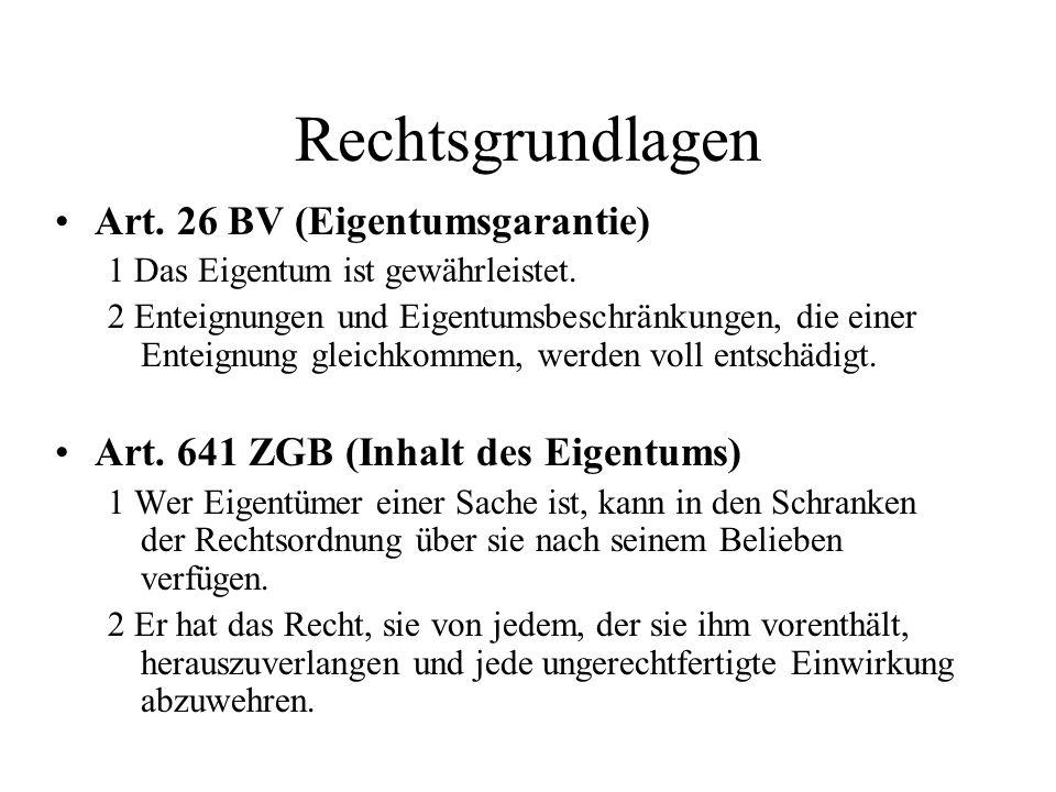 Rechtsgrundlagen Art. 26 BV (Eigentumsgarantie)