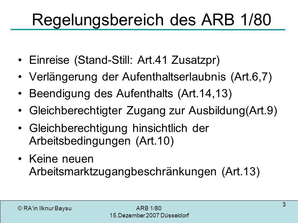 Regelungsbereich des ARB 1/80